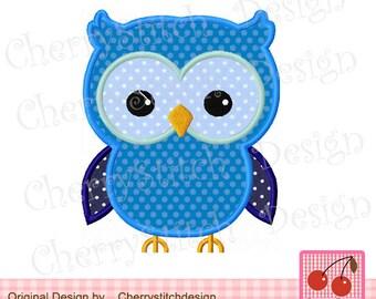 "Owl Machine Embroidery Design for boys -4x4 5x5 6x6"""