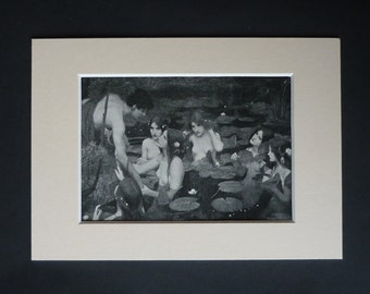 1913 Antique Mythical Print by John William Waterhouse of Hylas and the Water Nymphs, Pre-Raphaelite Decor Available Framed Mythological Art