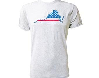 Virginia American Flag - NLA Heather White