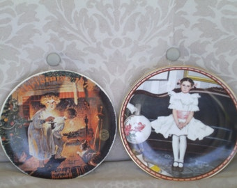 """Norman Rockwell Plate's """"Somebody's up there"""" 1979 Ltd Ed Plate & 1986 Sitting Pretty"""