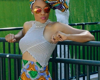 Black Friday Sale....... Maame Ama  high Waist African Print Pencil Skirt. Now selling at 50 dollars. Originally 85 dollars