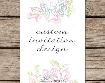 New Custom Designed Printable Invitation, wedding shower party unique invitations design