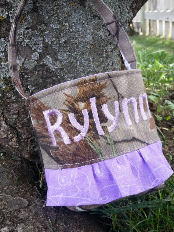Personalized Baby's First Camo Purse, Flower Girl Purse