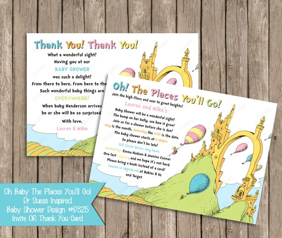10% off sale oh baby the places you'll go dr seuss baby, Baby shower invitations