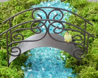 Fairy Garden Bridge Accessories Rustic Miniature Footbridge With Choice Of  Bird   Supply For Terrarium