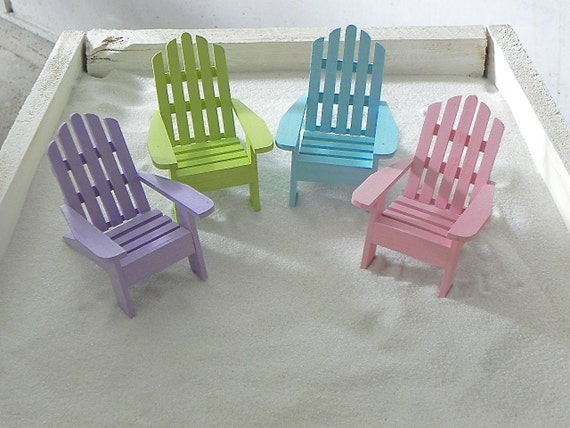 wedding cake topper mini adirondack beach chair one miniature adirondack chair diorama cake topper 26354
