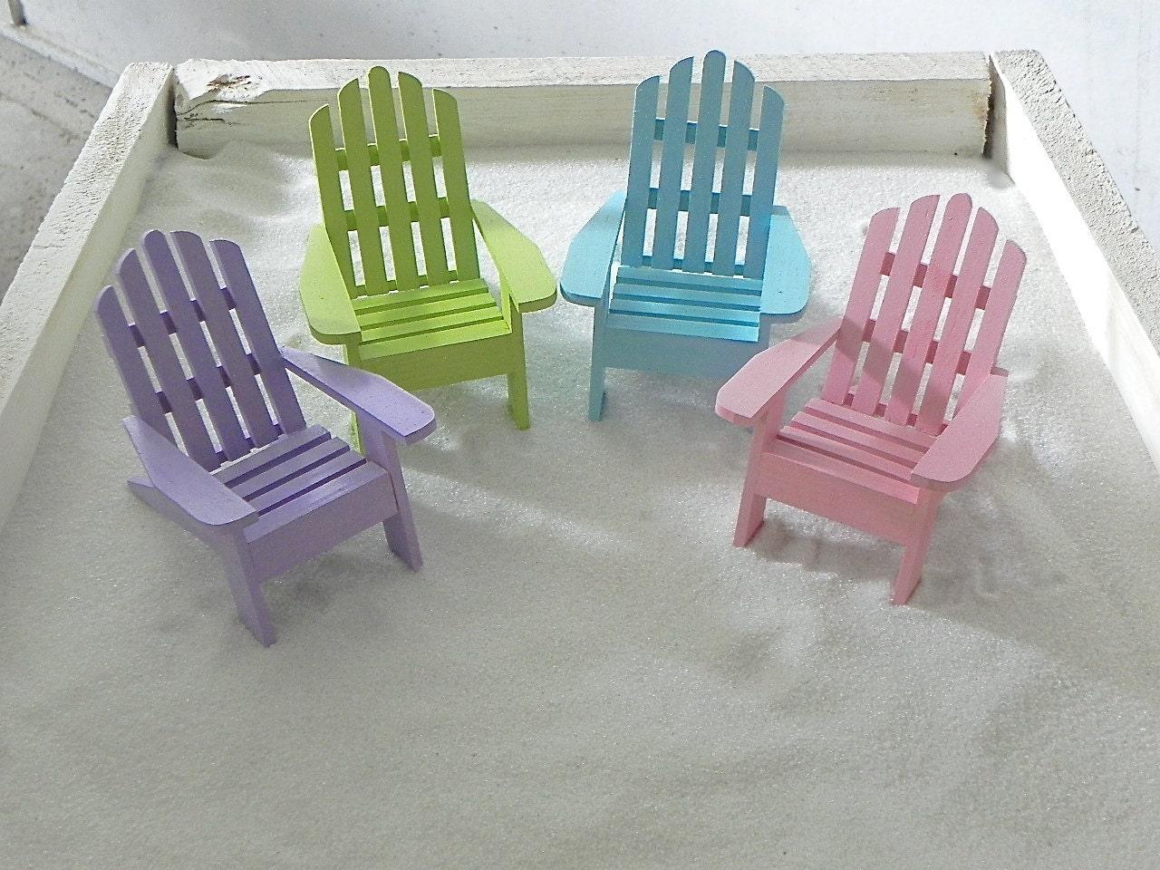 One Miniature Adirondack Chair Beach Diorama Cake Topper
