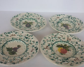 Hand Painted Plates Italy - Set of 4