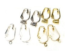 Change to CLIP ON EARRING Converters for Post or Dangle Style Earrings - Lot of  4 pair-