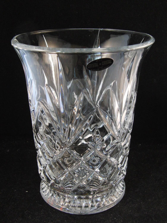 Genuine Lead Crystal Vase By Deplomb Crystal U S A