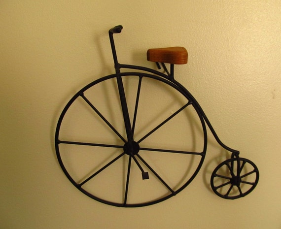 Victorian bicycle wall art metal vintage for Victorian wall decor