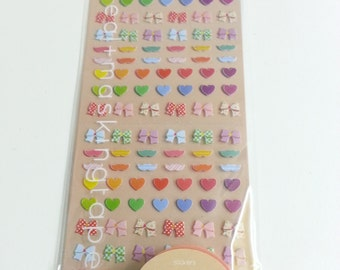 Love Heart  Sticker  2 Sheets + 7mm x  5M Masking Tape