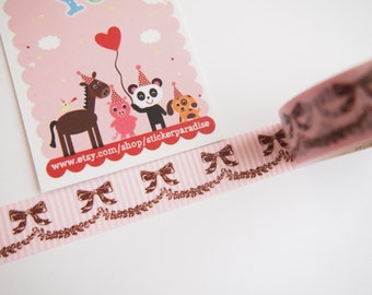 Amifa Lovely Ribbon Washi Tape (15 mm X 6M)