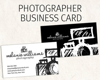 Photography Business Card - business card design sketched camera logo psd download