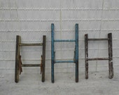 Pick from 3 Short Antique Wooden Ladders - 727374