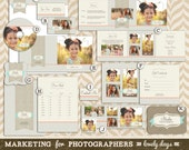 Photography Marketing Template Set Includes Logo business card and more INSTANT DOWNLOAD