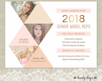 free photography marketing templates - high school senior etsy