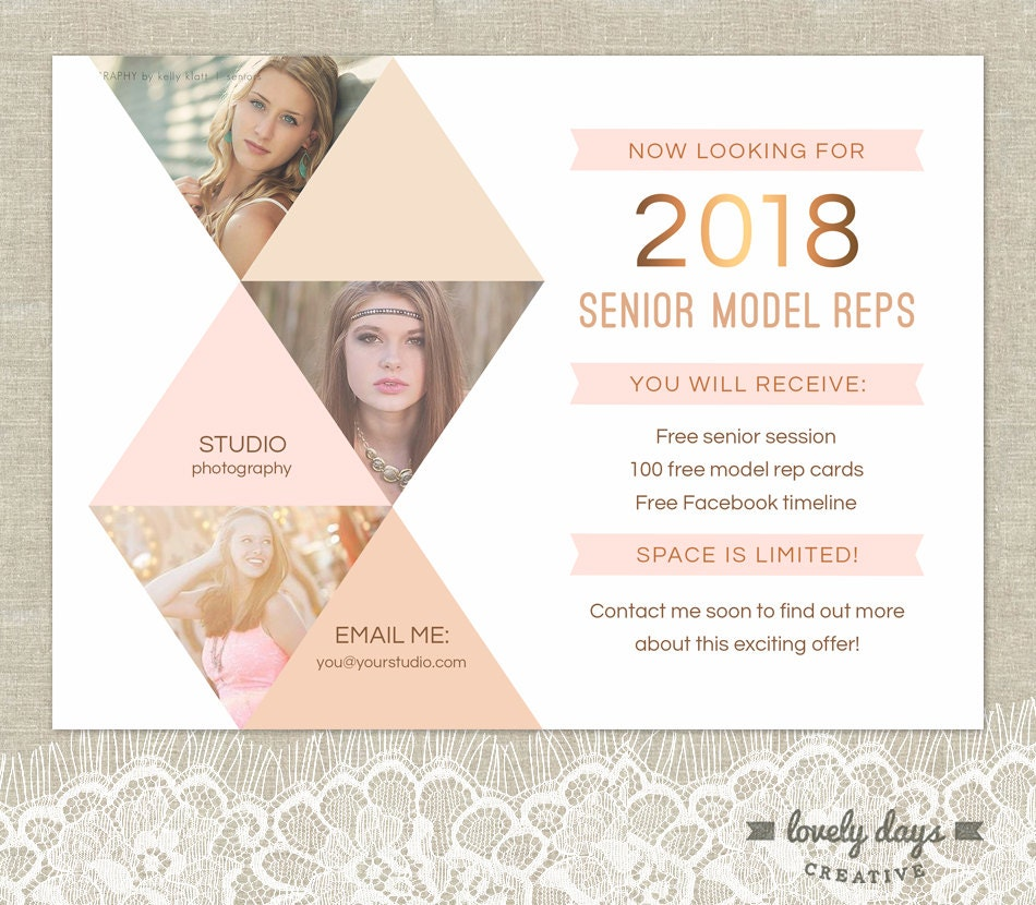 Senior photography marketing senior rep template instant for Free marketing templates for photographers