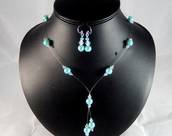 "Ornament wedding ""Louisa"" blue turquoise - customizable"
