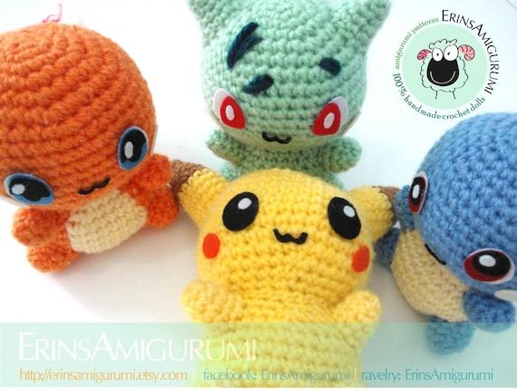 Pokemon Amigurumi Deutsch : AMIGURUMI POKEMON FRIENDS Made to order