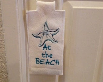 DOOR HANGER-Machine Embroidered-At The Beach