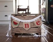ONE watermelon Burlap High Chair Banner for First Birthday or Cake-Smash