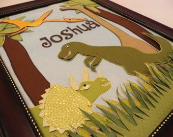 Dinosaur Custom Child Name Frame