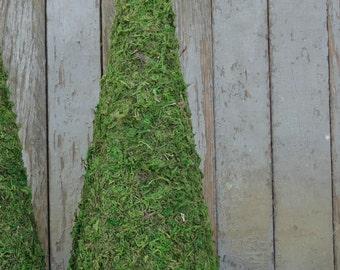 Moss Tree-Moss Topiary Tree-Moss Cone-Wedding Decor-Wedding Centerpiece-Mantle Decor-Rustic Wedding Decor-Woodland Wedding-Rustic Home Decor