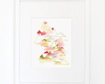 Mountain Crisp- Watercolor Art Print
