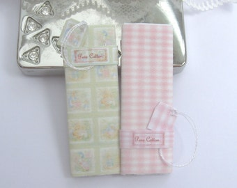 dollhouse sewing fabric bolts beatrix potter  12th scale miniature