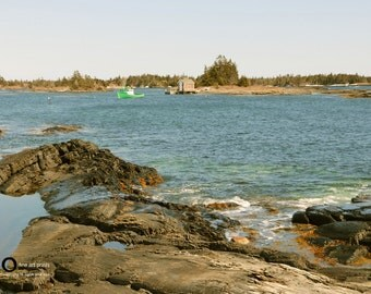 Fine Art Photograph - Ocean Photography - Nature Photography - wall art - Art Print - home decor - quaint - atlantic canada - fishing boat