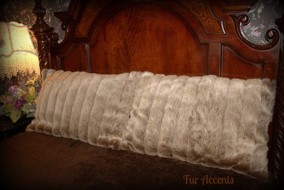Fur Accents One Pair Of Pillow Shams Light Tan By Furaccents