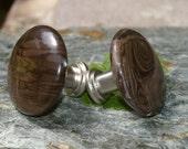 Knobs, Stone Knobs, Cabinet Knobs    - Set of 2, Stone Cabinet Knobs or Pulls, Jasper Knobs
