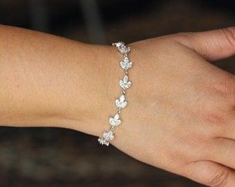 bridal jewelry bridal bracelet wedding cz bracelet bridesmaid bracelet zirconia bracelet