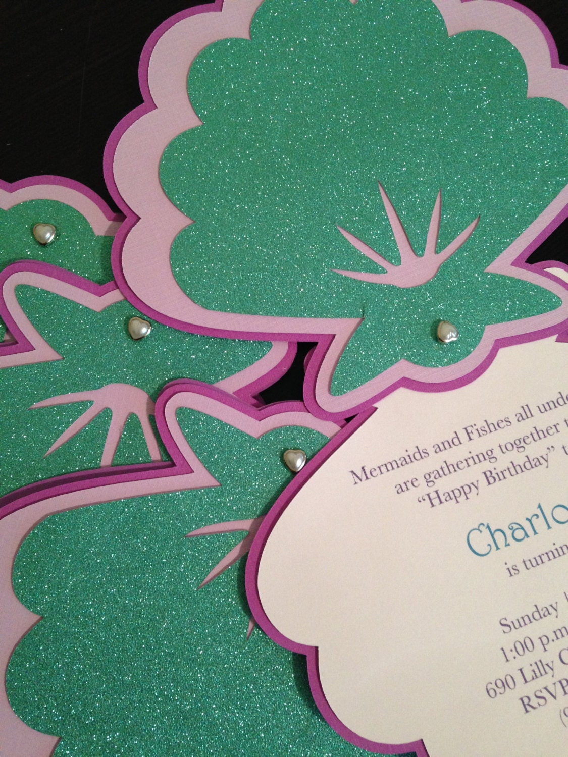 Mermaid Invitation Seashell Invitation Under The Sea