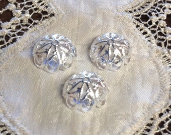 Fancy Filigree Bead Caps, Silver Plated, 20 Pieces, 20 mm x 10 mm