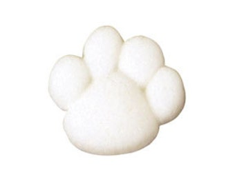 24 Paw Prints Edible Molded Sugar Cake / Cupcake Topper Decorations Birthdays, Parties