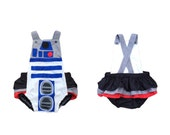 R2D2 Romper your choice with or without ruffles