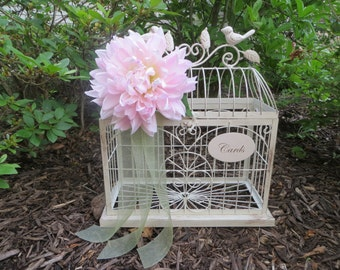 Elegant Wedding Card Holder, Wedding Money Holder, Wedding Wishes Holder, Wedding Birdcage, Wedding Cash Box, Shabby Chic Wedding Decor
