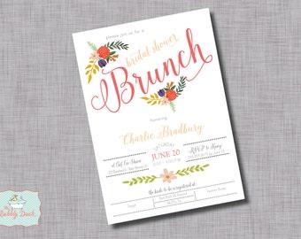 Floral Bridal Brunch Invitation