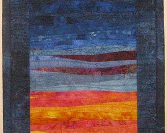 Art Quilt Sunset 34 Small