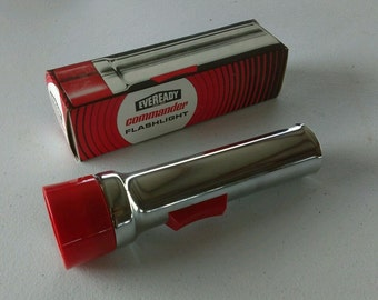 Free Shipping!! Vintage Eveready Flashlight  5251 2 D Cell Old Rat Rod Flash light
