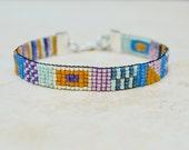 Beaded Bracelet . South Western . Delica Beaded . Friendship Bracelet . Multi Colors