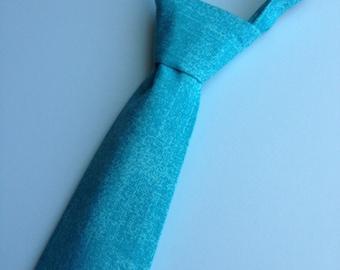 Boys Neck Tie, Turqouise Necktie, Infant Tie, Toddler NeckTie