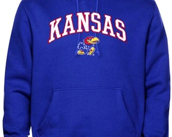 Kansas Hoodie Sweat Shirt Jayhawks College University Apparel Officially Licensed By The NCAA