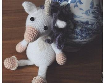 """Unicorn """"Pinckie cookie"""" to hook"""