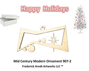 907-2 Mid Century Modern Christmas Ornament