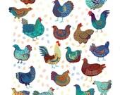 Chicken Crew Print