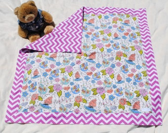 Classic tattoos flannel baby blanket-Large