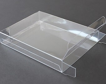 "A2 Clear Plastic Greeting Card Boxes (set of 25), 4-1/2"" x 5-7/8"" x 5/8"""